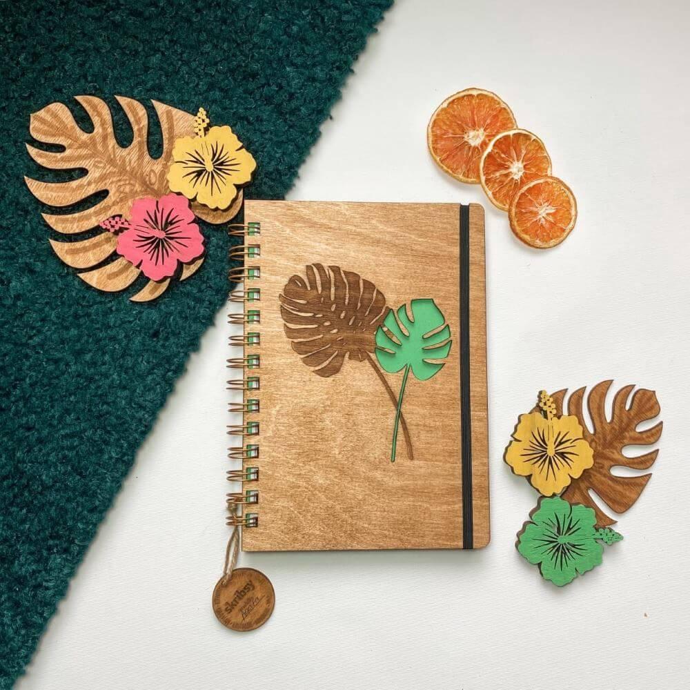 skribsy drewniane bindowane