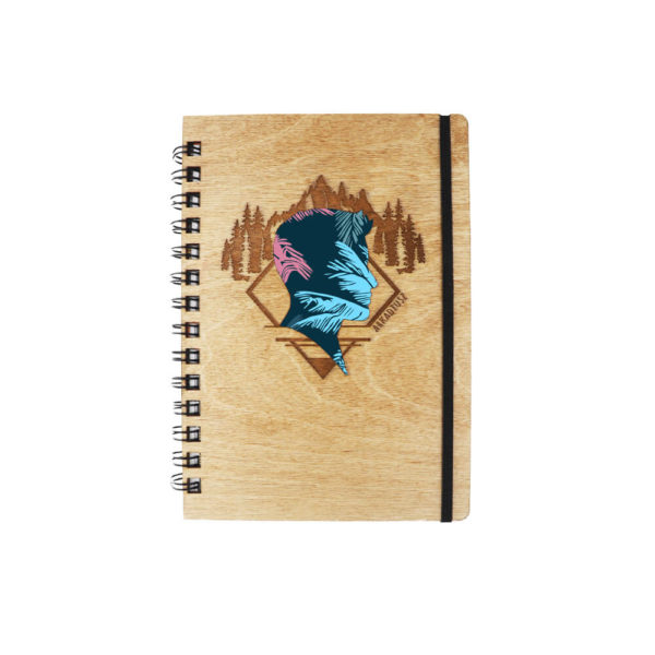 Drewniany notes SKRIBSY wzór personalizowany