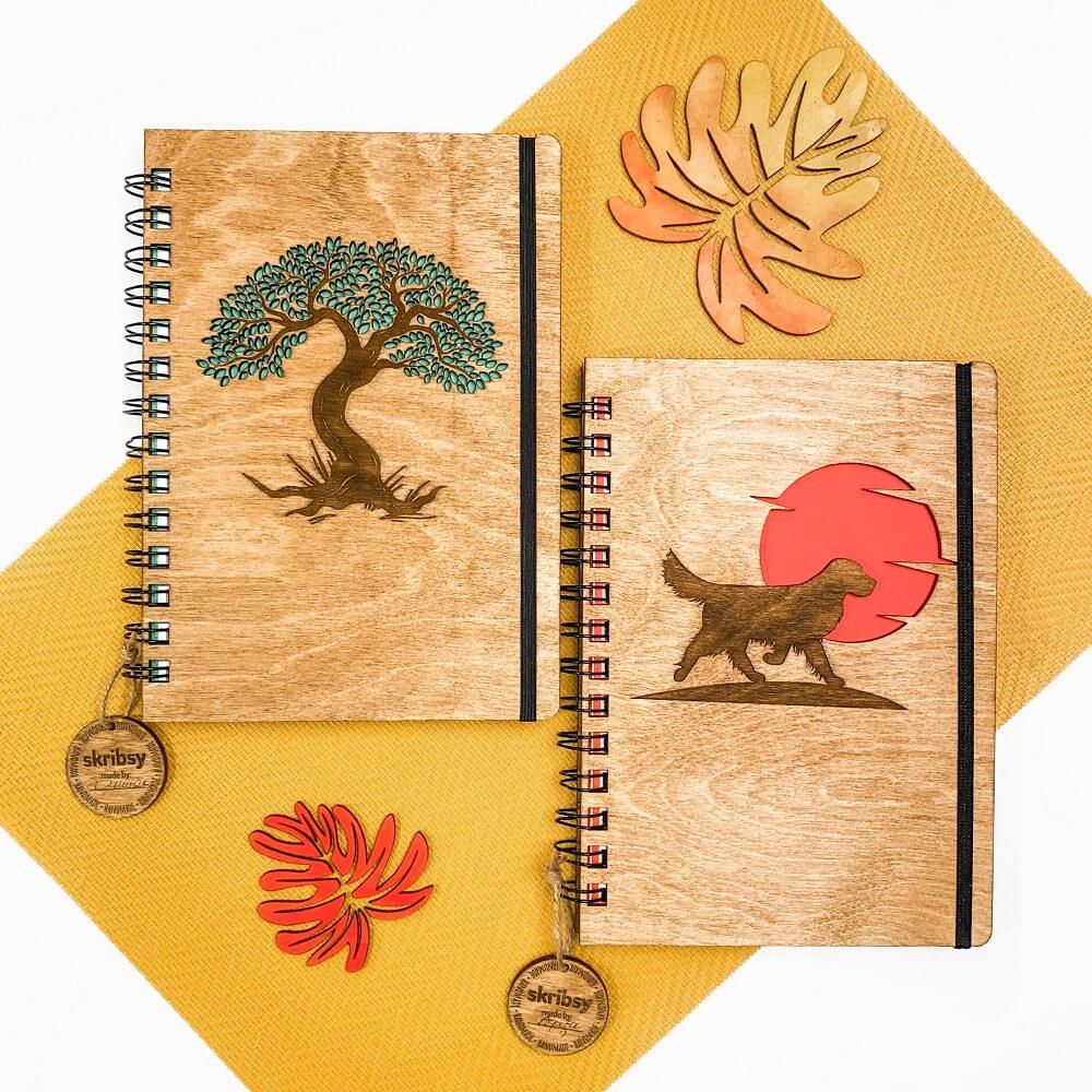 Drewniany notes drzewo sonia SKRIBSY