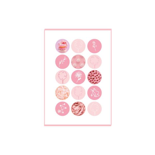 różowy zestaw naklejek skribsy bullet journal
